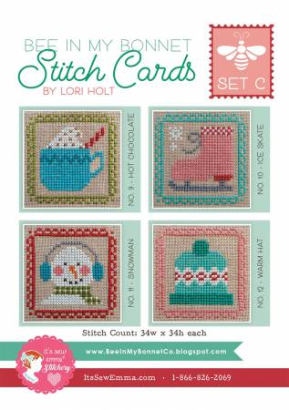 PT CS Bee In My Bonnet Stitch Cards - Set C
