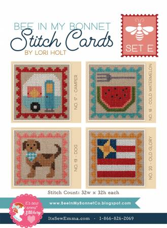 Bee In My Bonnet Stitch Cards: Set E