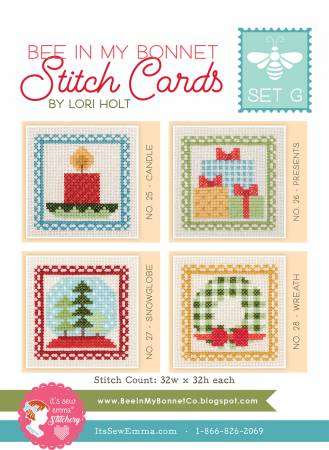 Bee in My Bonnet Stitch Cards Set G