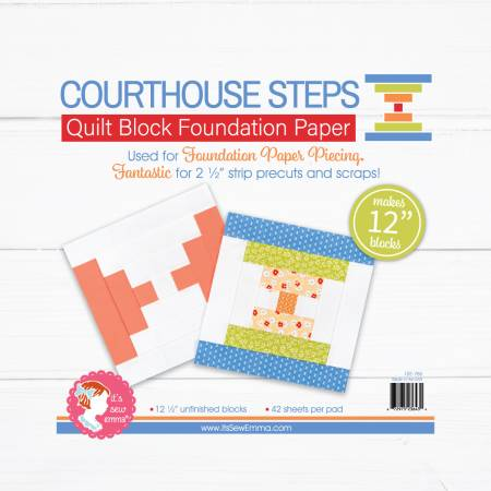 Courthouse Steps 12in Quilt Block Foundation Paper