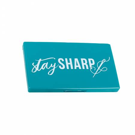 Stay Sharp Navy Magnetic Needle Case
