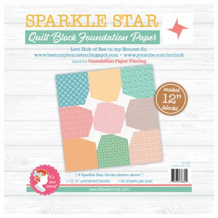 Sparkle Star 12in Block Foundation Paper Pad
