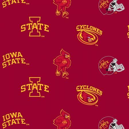Red Iowa State University Flat Toss