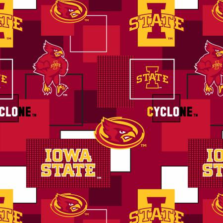Iowa State University Block Print Cotton