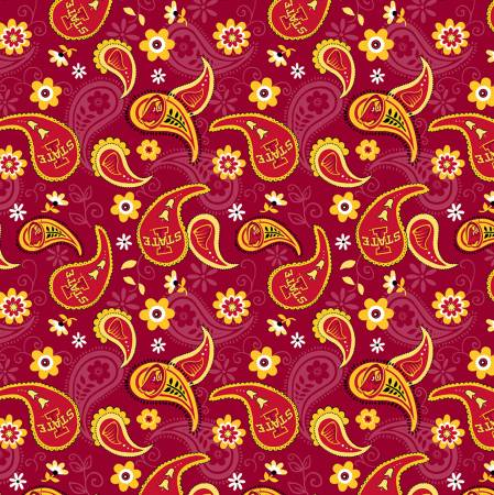 NCAA-Iowa State Cyclones Cotton Paisley