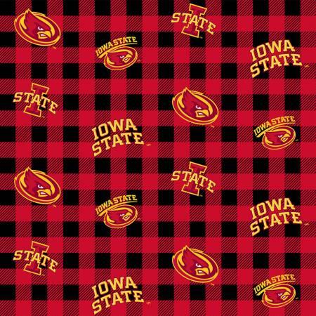 NCAA-Iowa State Cyclones Buffalo Plaid Cotton