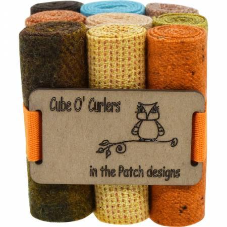WOOLEN Curler Cube Deserts 4 X 16 - 9 PIECES