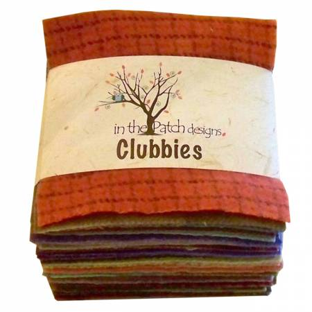 Wool Clubbies 50ct 5in Squares Set Blended Previously Item  WCCLBLND