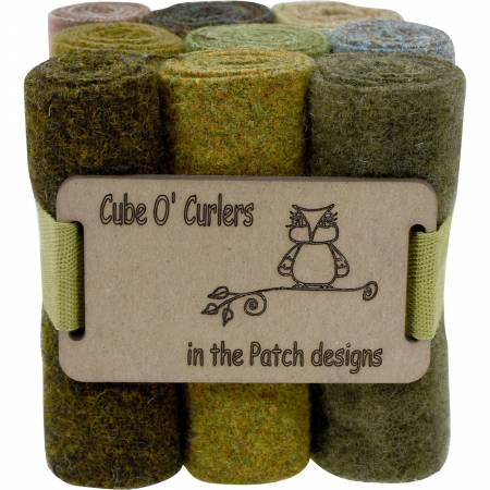 WOOLEN Curler Cube Mother Earth 4 X 16 - 9 PIECES