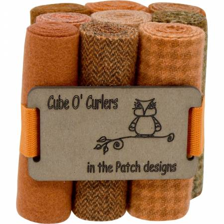 WOOLEN Curler Cube Orange 4 X 16 - 9 PIECES