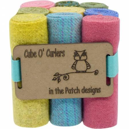 WOOLEN Curler Cube Pastels 4 X 16 - 9 PIECES