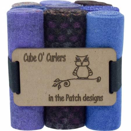 WOOLEN Curler Cube Purples 4 X 16 - 9 PIECES