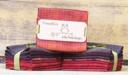 Woolen Needfuls Chipawana Reds 6 X 13 - 8 PIECES