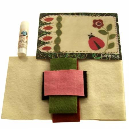 Mug Rug wool Ladybug Kit