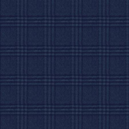 Dark Blue Large Square Yarn Dyed Flannel