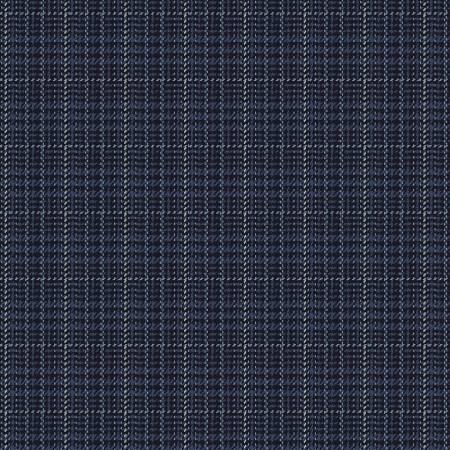 Dark Blue Stitch Plaid Yarn Dyed Flannel