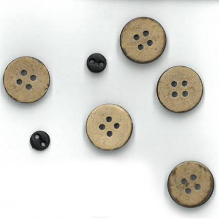 The Wooden Bear Button Pack Wall Hanging Set T07