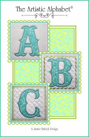 Artistic Alphabet Machine Embroidery Designs by Janine Babich  JBDAA