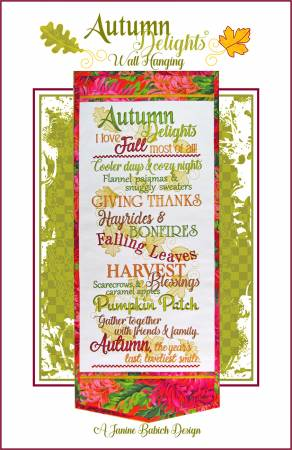 Autumn Delights Wall Hanging by Janine Babich