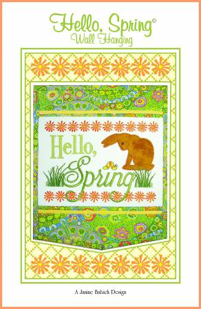EMB HELLO SPRING WALL HANGING