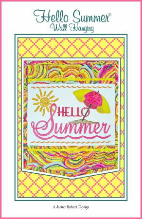 Hello Summer Wall Hanging Machine Embroidery