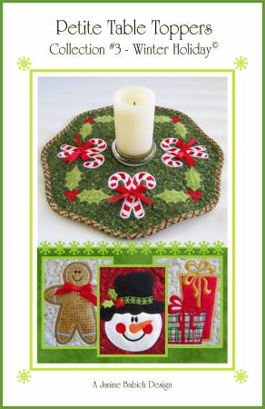 CD Petite Table Toppers Col 3- Winter Holiday Machine Embroidery