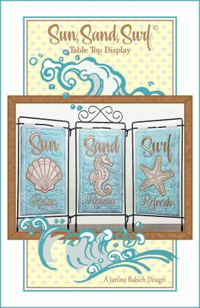 Sun, Sand Surf Machine Embroidery