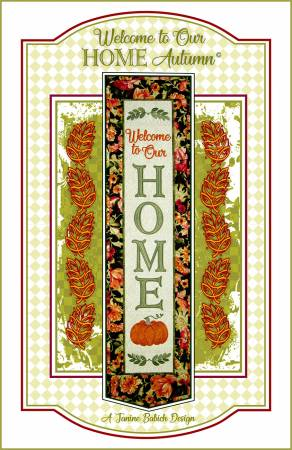 Welcome to Our Home-Autumn Pattern by Janine Babich Design