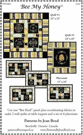 Bee My Honey Pattern -- PTN2682