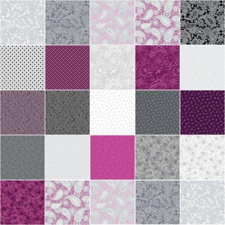 10in Squares Jubilee Silver, 42pcs/bundle