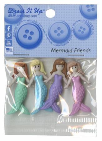 Mermaid Friends Buttons