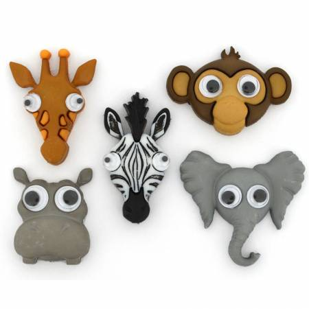 Life's A Zoo Button Pack - 10417