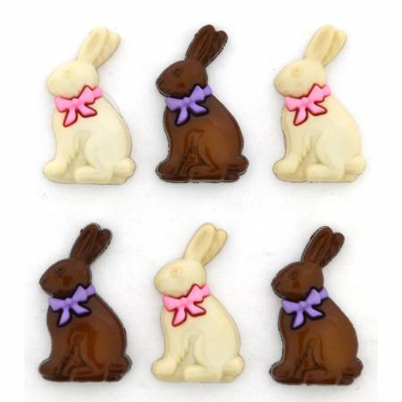 Chocolate Bunnies Button Pack - 10876