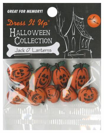 Jack O Lanterns 10ct Button Pack - 1200