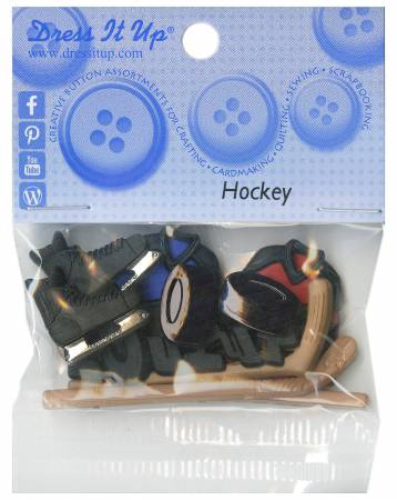 Hockey 7pc Button Pack