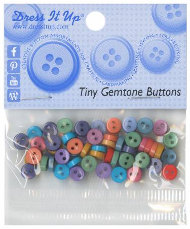 Tiny Gemstone 40ct Button Pack