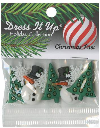 Christmas Past Button Pack 8pcs