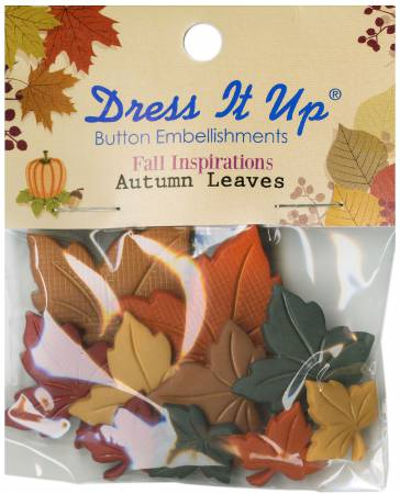 Autumn Leaves 10ct Button Pack - 323