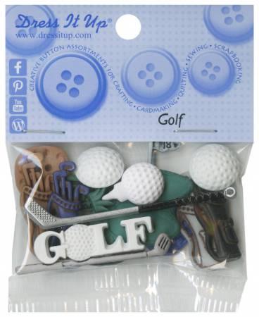 Golf 6pc Button Pack