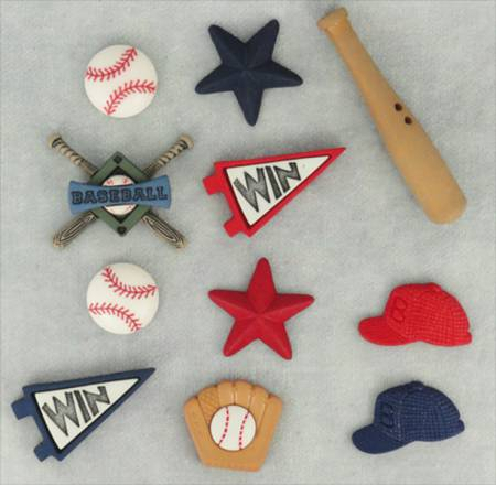 Baseball 7pc Button Pack