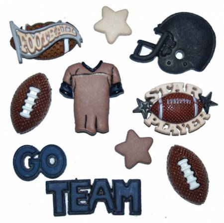 Football 8pc Button Pack