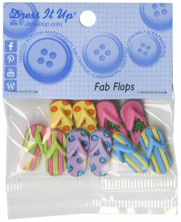 Fab Flops 10ct Button Pack