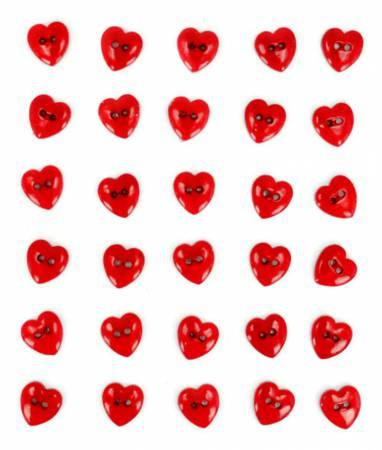 Red Hot Hearts 40ct Button Pack