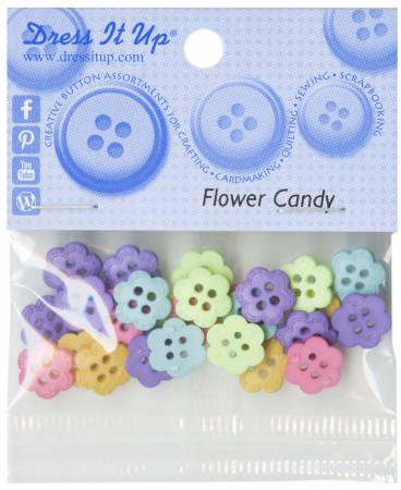 Flower Candy 20ct Button Pack