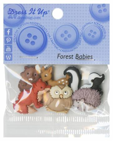Forest Babies 6ct Button Pack - 6547