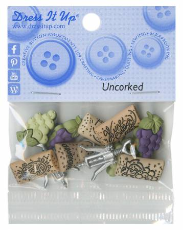 Uncorked Button Pack - 6953