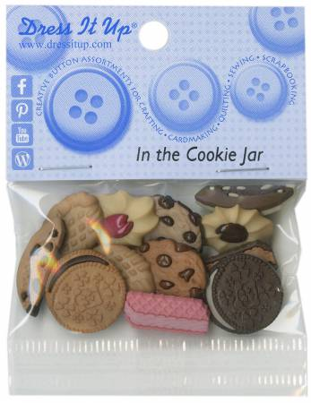 In the Cookie Jar 6ct Button Pack