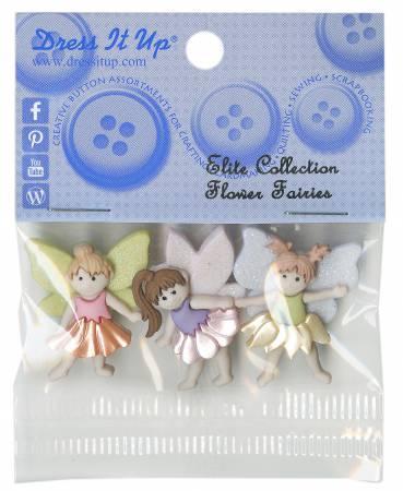 Flower Fairies Button Pack