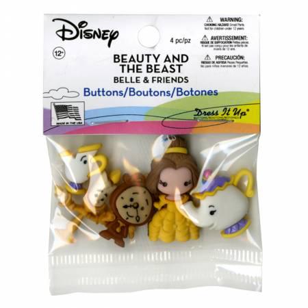 Disney's Belle & Friends Button Pack - 8956