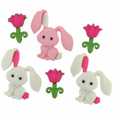 Bunny Love Button Pack - 9359